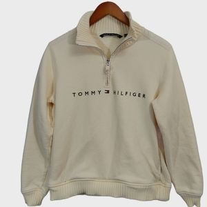 Tommy Hilfiger Yellow Quarter Zip Sweater-Large